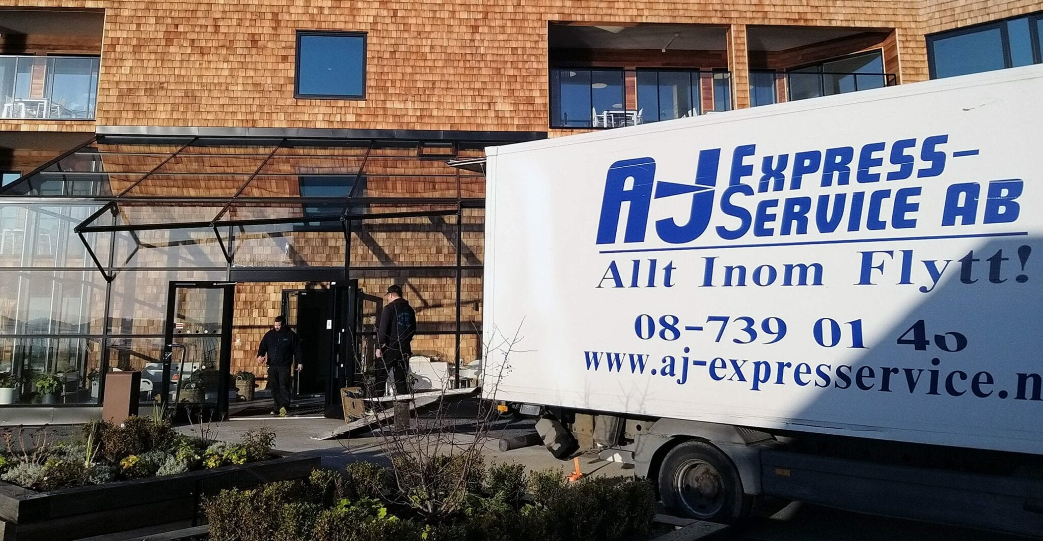 Flyttfirma AJ Express, flyttbil, privatflytt